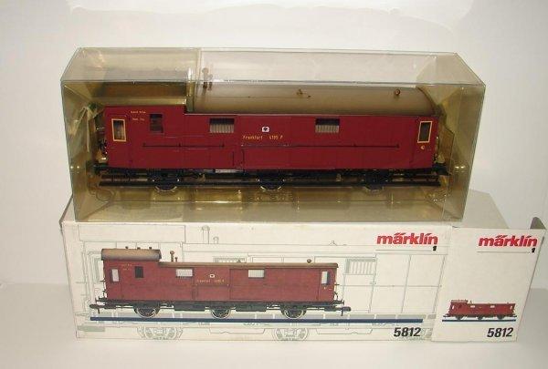 1017: MARKLIN 1 GAUGE 5812 KPEV BAGGAGE CAR