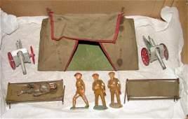 1501: DIMESTORE SOLDIER LOT & TENT