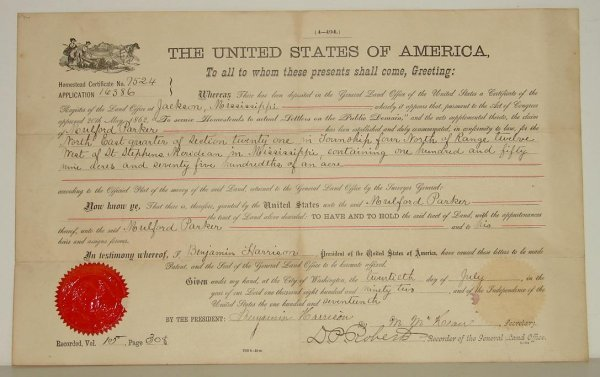 3: BENJAMIN HARRISON DOCUMENT.