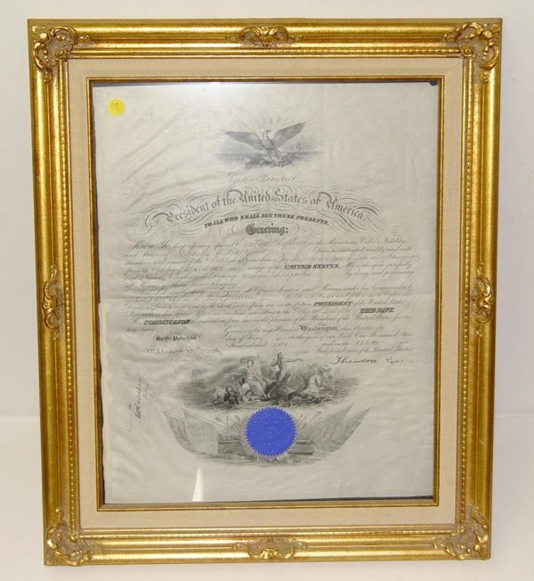 15: THEODORE ROOSEVELT DOCUMENT SIGNED.