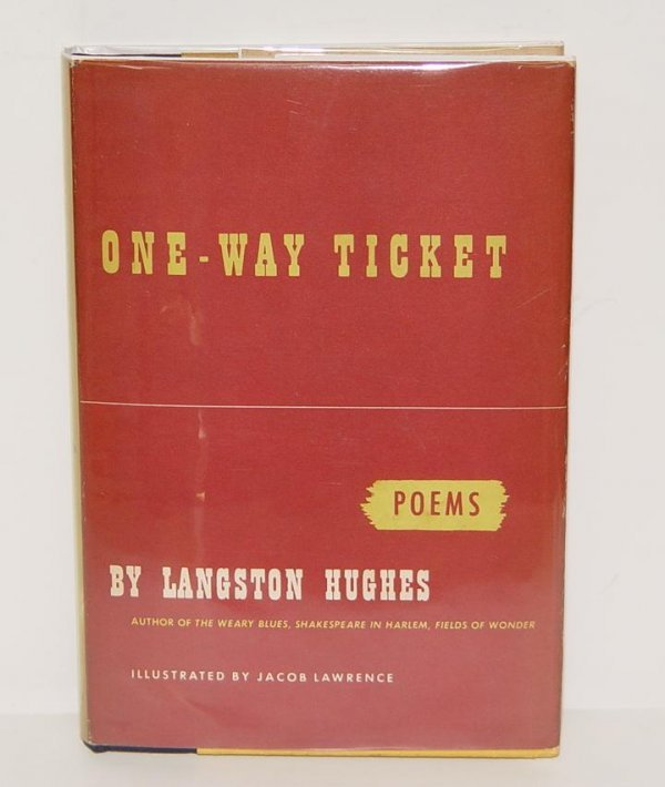 242: SIGNED LANGSTON HUGHES. ONE-WAY TICKET 1ST ED
