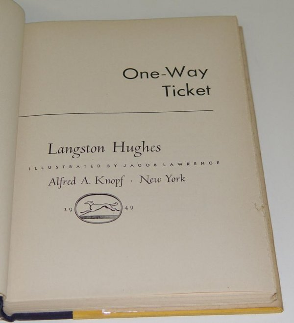 242: SIGNED LANGSTON HUGHES. ONE-WAY TICKET 1ST ED - 3