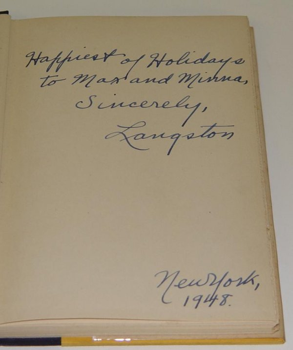242: SIGNED LANGSTON HUGHES. ONE-WAY TICKET 1ST ED - 5