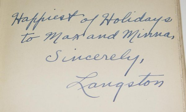 242: SIGNED LANGSTON HUGHES. ONE-WAY TICKET 1ST ED - 6