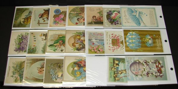 1105: 40 ASSORTED HOLIDAY POSTCARDS