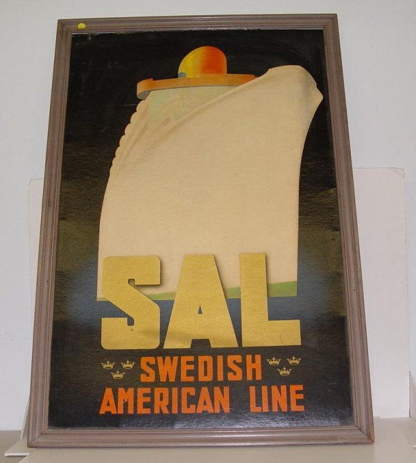 2010: SWEDISH AMERICAN LINE ADVERTISING POSTER