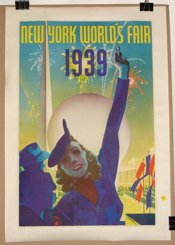 2125: ORIGINAL 1939 NEW YORK WORLD'S FAIR POSTER
