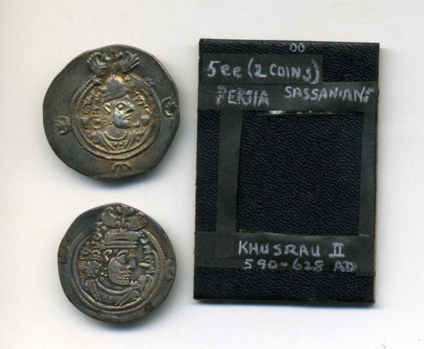 3: SASSANIANS PERSIA. DIRHENS. LOT OF TWO.