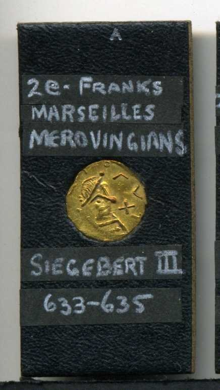 5: MEROVINGIANS. FRANCE. GOLD COIN.