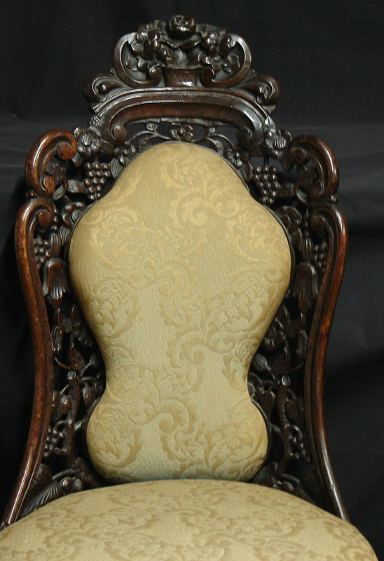 2361: 19TH CENTURY ORNATE CARVED SIDE CHAIR