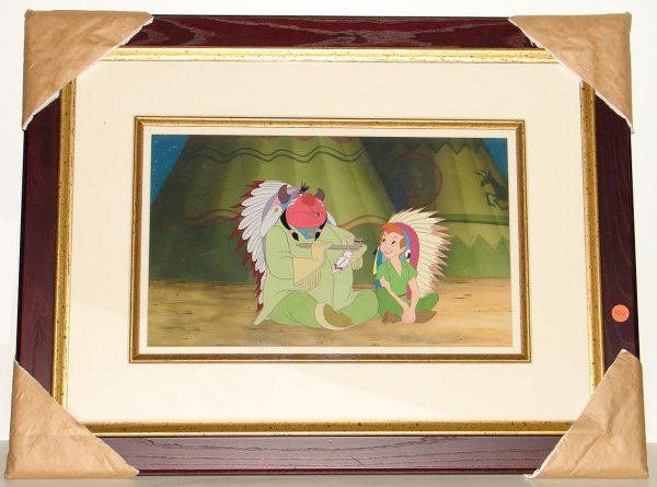 3004: ORIG PETER PAN & INDIAN CHIEF PRODUCTION CEL
