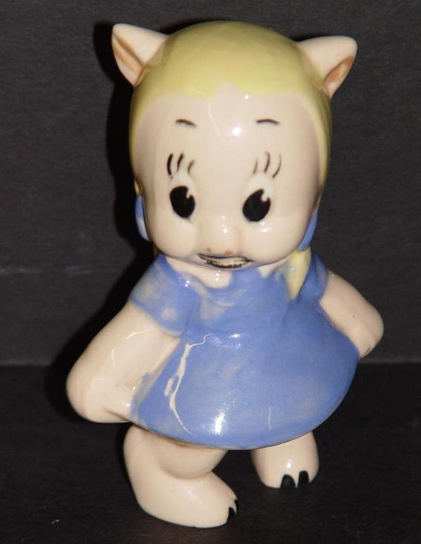 4006: AMERICAN POTTERY PORKY/PETUNIA PIG FIGURINES - 5