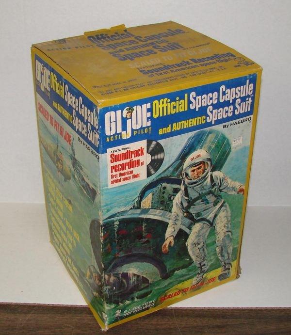 4100D: BOXED 1966 G.I. JOE SPACE CAPSULE & SPACESUIT