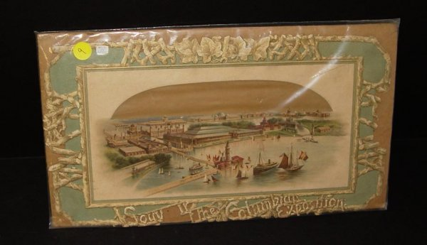 9: COLUMBIAN EXPOSITION. DIE CUT.