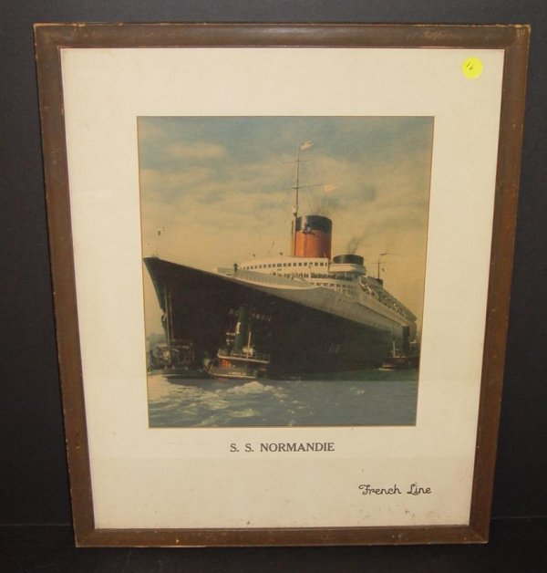 16: S.S. NORMANDIE. FRENCH LINE.