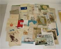 83: NORTH GERMAN LLOYD LINE PAPER EPHEMERA LOT