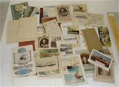 84: NORTH GERMAN LLOYD LINE PAPER EPHEMERA LOT
