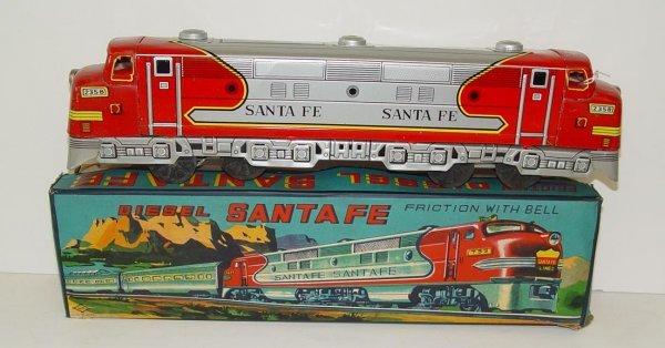1008: BOXED TIN LITHO SANTA FE JAPAN
