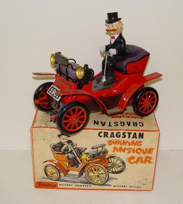1019: BOXED B/O CRAGSTAN ANTIQUE SHAKING CAR