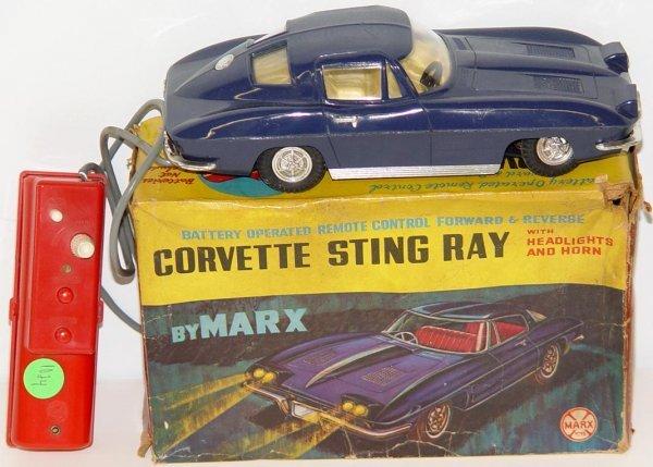 1024: BOXED MARX CORVETTE STING RAY REMOTE CONTROL