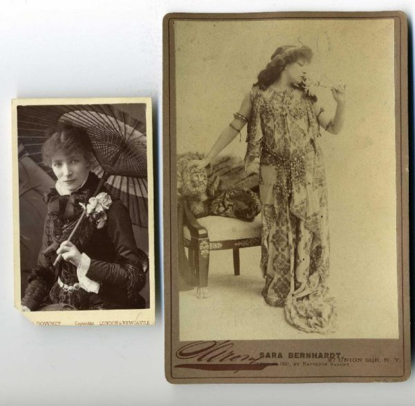 2022: SARAH BERNHARDT. LOT OF TWO IMAGES.