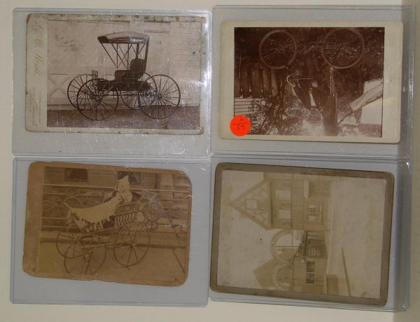 2023: LOT OF 4 IMAGES.CARTS, BICYCLES ETC.