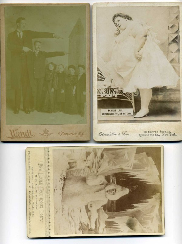 2024: LOT OF THREE CIRCUS CABINET CARDS.