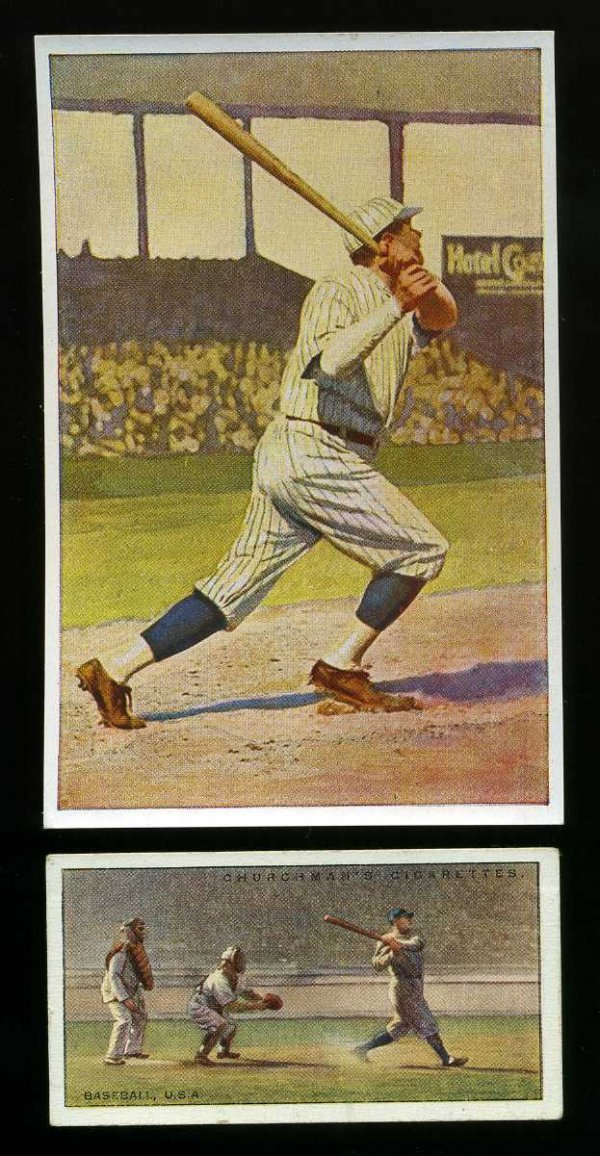 4005: BABE RUTH. LOT OF TWO CARDS.
