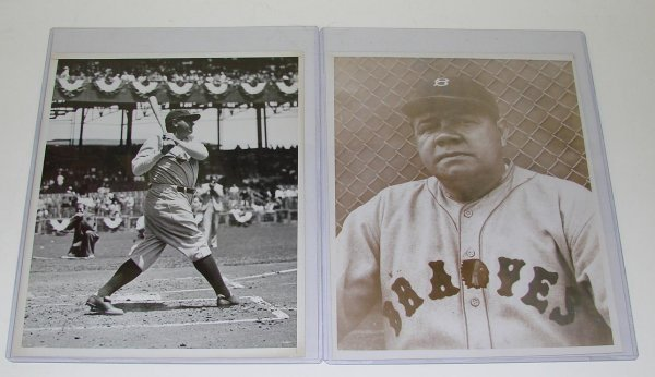 4008: BABE RUTH PHOTO LOT.