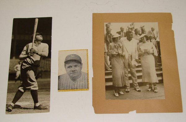 4011: BABE RUTH THREE PIECE LOT.