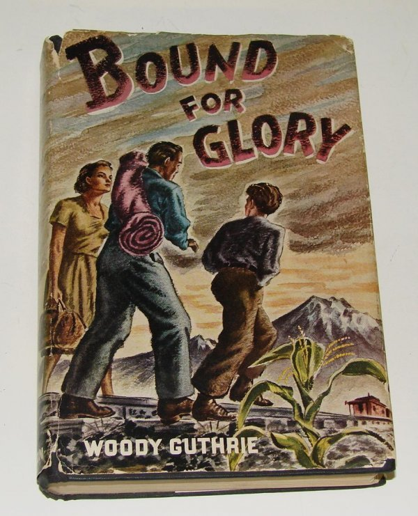 4012: RARE WOODY GUTHRIE. SIGNED BOOK.