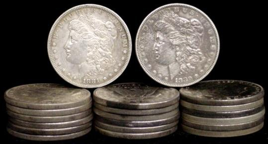 6: SILVER DOLLAR LOT 20 DIFFERENT COINS