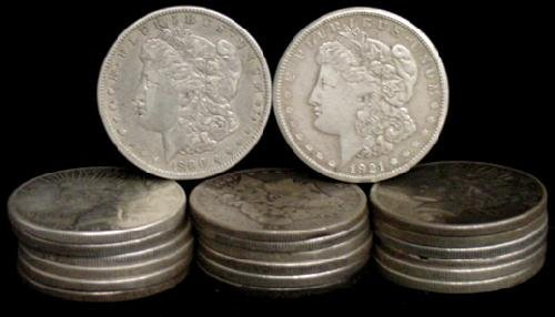 8: SILVER DOLLAR LOT 20 DIFFERENT COINS