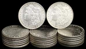 12: SILVER DOLLAR LOT 20 DIFFERENT COINS