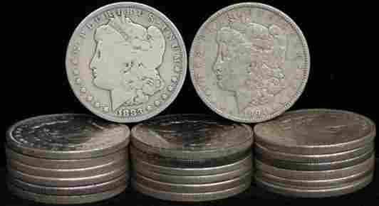SILVER DOLLAR LOT 20 DIFFERENT COINS