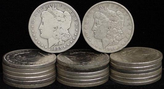 15: SILVER DOLLAR LOT 20 DIFFERENT COINS