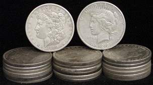 16: SILVER DOLLAR LOT 20 DIFFERENT COINS