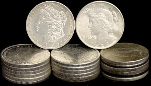 17: SILVER DOLLAR LOT 20 DIFFERENT COINS