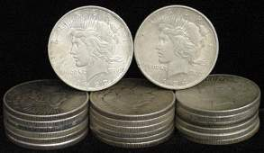 19: SILVER DOLLAR LOT 20 DIFFERENT COINS
