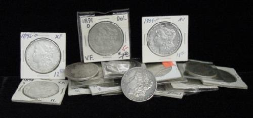 21: SILVER DOLLAR LOT 20 DIFFERENT COINS