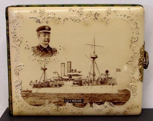 1012: CELLULOID CABINET CARD ALBUM
