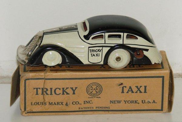 1: VINTAGE MARX TRICKY TAXI WIND UP CAR