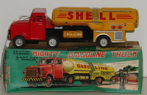 15: BOXED FRICTION SHELL GASOLINE TRUCK JAPAN