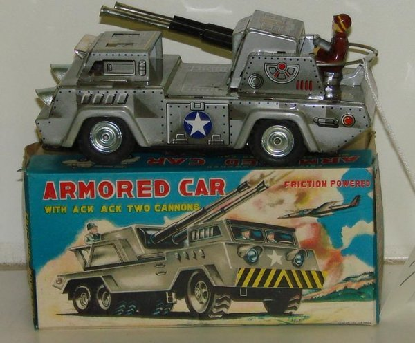 17: BOXED FRICTION ARMORED CAR JAPAN