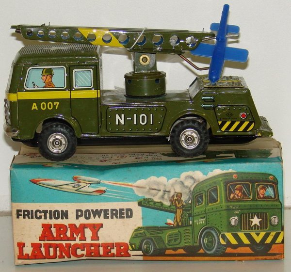 18: BOXED FRICTION ARMY LAUNCHER TRUCK JAPAN
