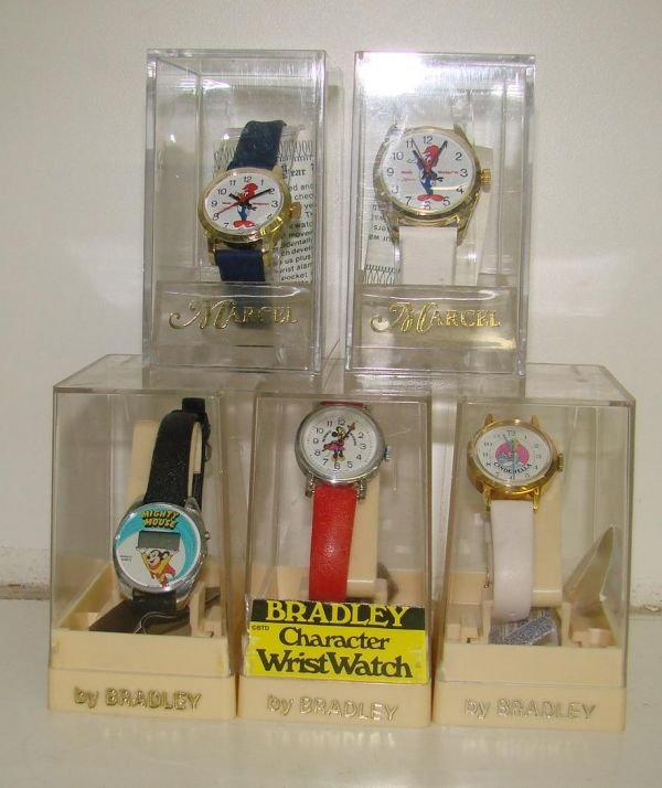 10C: LOT OF 5 VINTAGE CHARACTER WRISTWATCHES