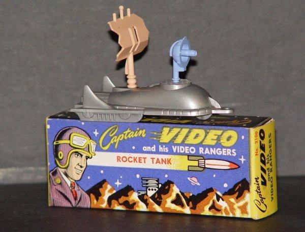 3: MINT IN BOX CAPTAIN VIDEO ROCKET TANK
