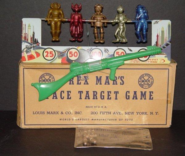 13: BOXED REX MARS SPACE TARGET GAME MARX