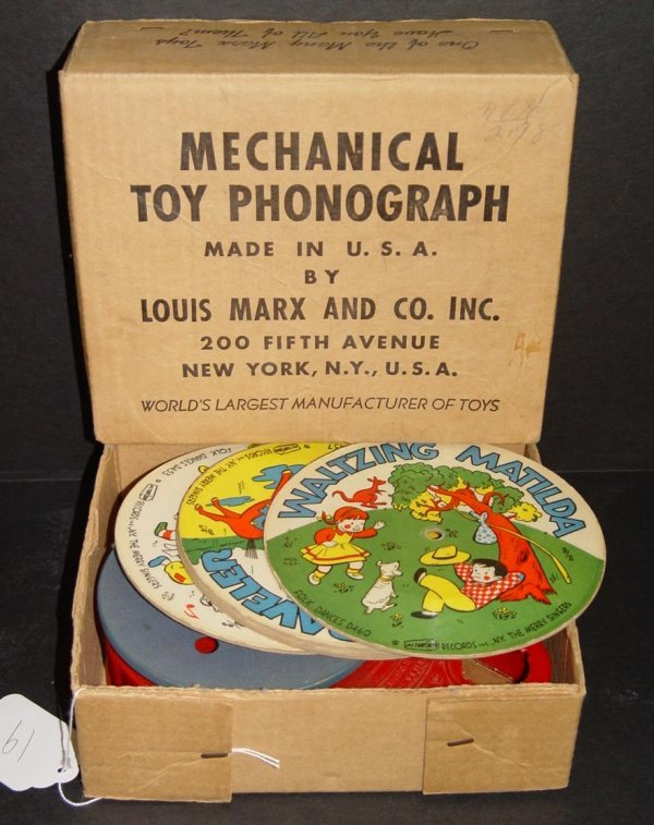 19: BOXED MECHANICAL TOY PHONOGRAPH MARX