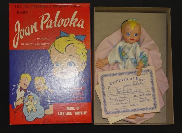22: BOXED JOAN PALOOKA STRINGLESS MARIONETTE